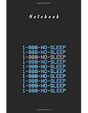 Notebook: 1 800 Vaporwave Aesthetic Noleep Japanese Gift for Men and Women Day Ruled Lined Notebook and Journal with Lined Size 6in x 9in