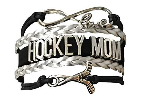 Charm Hockey Mom - Infinity Collection Hockey Mom Charm Bracelet, Ice Hockey Mom Jewelry, for Moms with Hockey Players