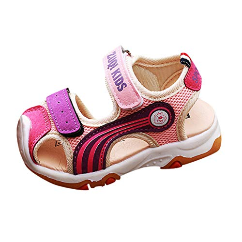 1-6Years Old Toddler Outdoor Shoes Kids Cartoon Closed Toe Sport Water Sandals Breathable Summer Sneakers for Baby Boys Girls Pink