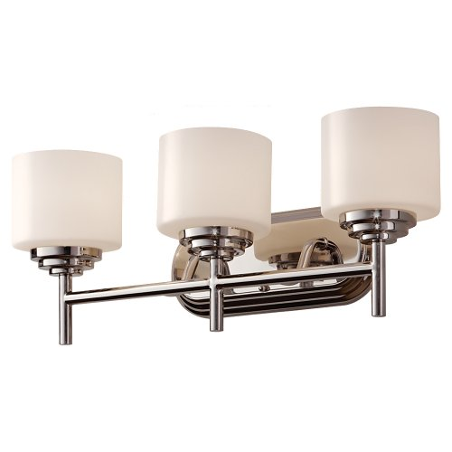 Murray Feiss Lighting Floor Lamps (Feiss VS26003-PN Malibu 3 Light Vanity Fixture, Polished Nickel)