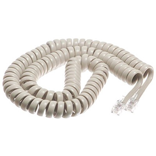 - The VoIP Lounge 12 Ft Handset Receiver Cord for Teledex Hospitality Hotel Motel Phone Off-White Ivory