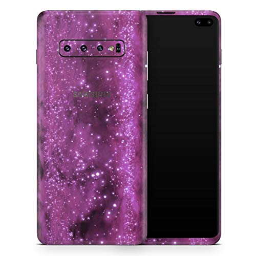Glowing Hot Pink V2 Orbs of Light - Design Skinz Vinyl Decal Wrap Cover for Samsung Galaxy S10 2-Pack Bundle! Full-Body + Back Glass