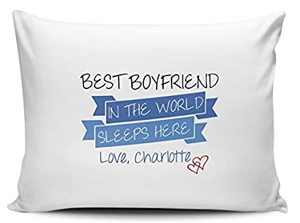 Amazon Com Personalized Best Boyfriend In The World Sleeps Here