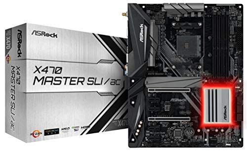 ASRock X470 Master SLI/AC AM4 AMD Promontory X470 SATA 6Gb/s USB 3.1 HDMI ATX AMD Motherboard