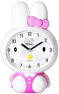 KEHUITONG 目覚まし時計、クリエイティブ漫画かわいい小さな目覚まし時計、漫画怠惰なベッドサイドの目覚まし時計、学生の目覚まし時計、電池式 最新スタイル (Color : White)