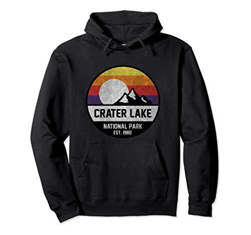 Crater Lake National Park Retro Mountain Hoodie (Crater Mountain Hoodie)