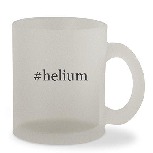 #helium - 10oz Hashtag Sturdy Glass Frosted Coffee Cup Mug