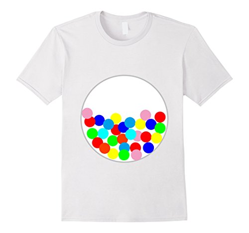 Mens Halloween DIY Costume Gumball Machine Tee for Preschooler 3XL White