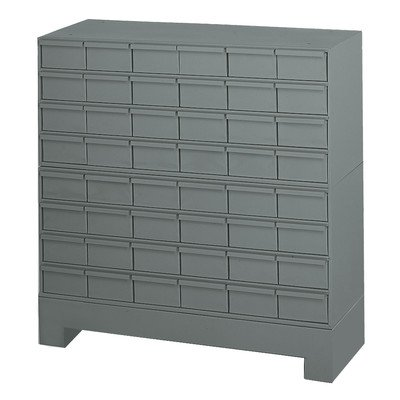 Durham 017-95 Prime Cold Rolled Steel Cabinet, 48 Drawer, 12-1/4'' Length x 34-1/8'' Width x 33-3/4'' Height, Gray Powder Coat Finish by Durham