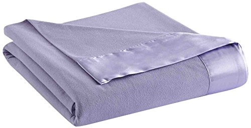 Thermee Micro Flannel Year-Round Sheet Blanket, Lilac, Full/Queen