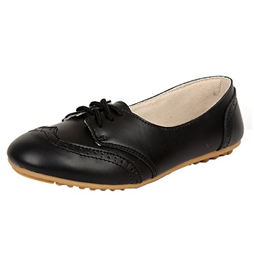 Women's Casual Ballet Slip On Flats Loafers Single Shoes Black - 6