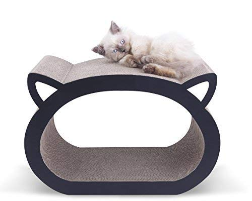 MushroomCat Face Cute Modern Scratch Lounge Classic Ultimate Cat Scratcher Bed