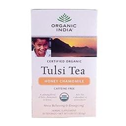Organic India Organic Honey Chamomile Tulsi Tea (3x18 ct)