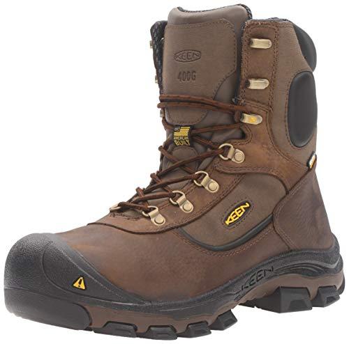 400g Waterproof Insulated Boots (Keen Utility - Men's Leavenworth (Steel Toe) 400G Insulated Waterproof Work Boot, Cascade Brown, 7 EE)
