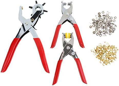 ホールパンチ アイレット ベルト/服/靴修理ツール プライヤー スナップボタン グロメット 手芸工具 セッターツール