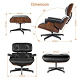 Mid Century Lounge Chair and Ottoman, Modern