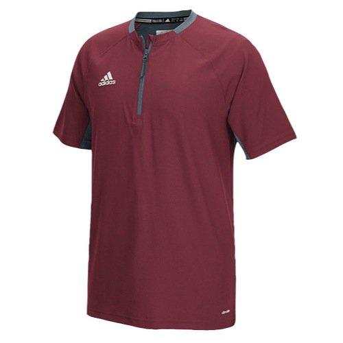adidas Mens Fielder's Choice Cage Jacket, Collegiate Burgundy/Onix Grey, Large (Burgundy Workout Jacket)