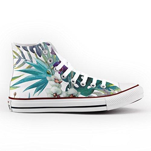Converse All Star Personnalisé et Imprimés - chaussures à la main - produit Italien - High Orchids