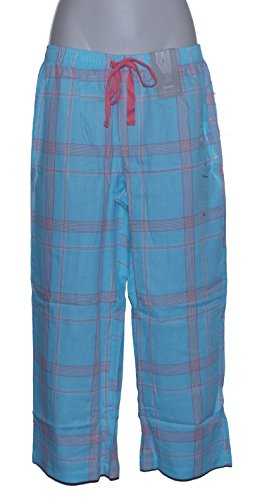 Charter Club Cropped Pajama Pants Bottoms (XX-Large) Picnic Plaid Blue