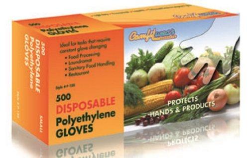 Disposable Food Handling Poly Gloves, Medium (500 Pcs)