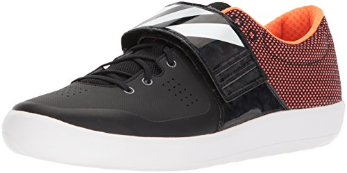 adidas Originals Adizero Shotput Running Shoe, Core Black, FTWR White, Orange, 13.5 M US