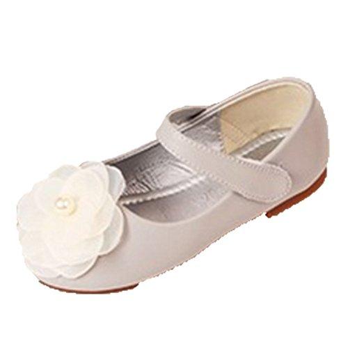 Ohmais Kinder Mädchen flach Freizeit Sandalen Sandaletten Kleinkinder Mädchen Halbschuhe Sandalette Ballerinas Gris