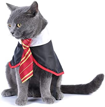 Impoosy Halloween Cat Costume Small Dog Wizard Pet Clothes Cute Apparel Puppy Shirts with Glasses 18