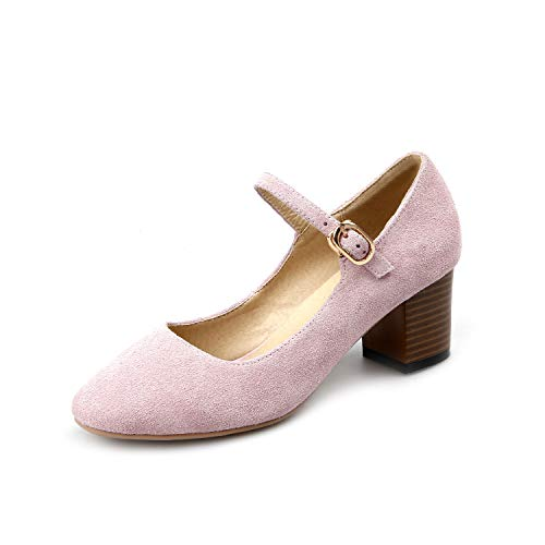 High Round Heel Women's Mouth Head Block Shallow Shoes tEHWwgq