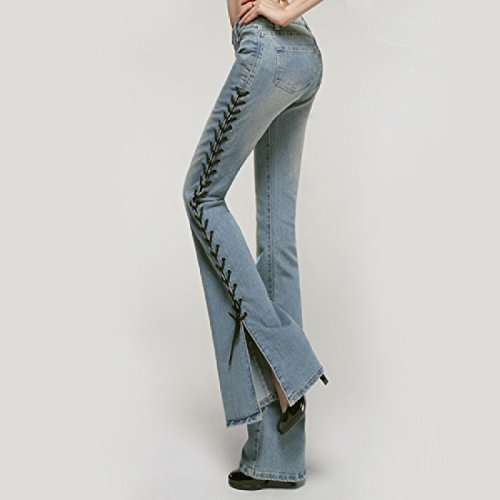 aicessess women para Azul Vaqueros Claro clothes mujer qRqnZSW