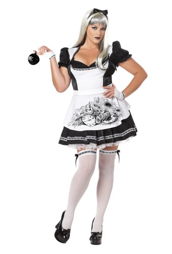 California Costumes Women's Plus-Size Dark Alice Plus, Black/White, 3X -
