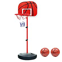 Pellor Indoor Mini Basketball Hoop Bracket for Office Game (Red)