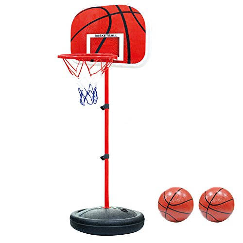 Pellor 170cm Adjustable Basketball Back Board Stand & Hoop Set For Children Kids (170cm)