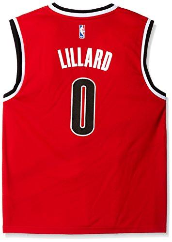 NBA Portland Trail Blazers Damian Lillard #0 Men's Replica Jersey, Large, Red