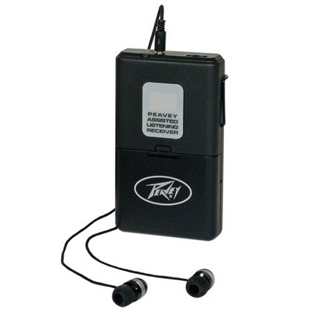 Peavey ALSR 72.9 Mhz Assisted Listening Receiver Body Pack for ALS 72.9 System Antenna by Peavey