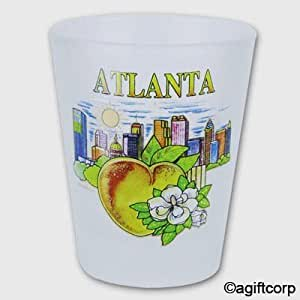 Atlanta Georgia Skyline Frosted Shot Glass