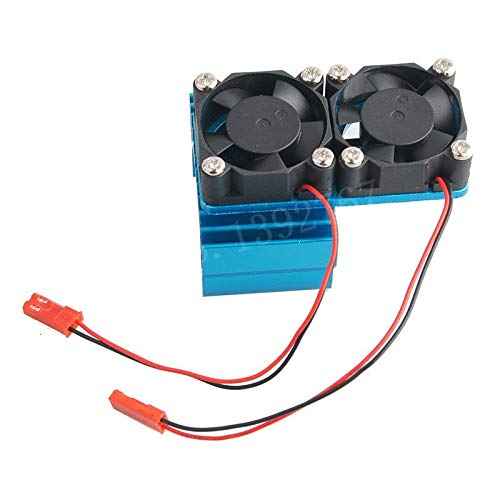 ShineBear RC Parts 540 550 Electric Motor Heat Proof Cover Heatsink Heat Sink Double Cooling Fan 7019 30mm30mm 5V for 1/8 1/10 Scale JST