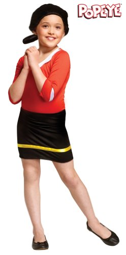Child Olive Oyl Costume Medium 8-10 (Olive Oyl Fancy Dress)