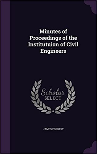 Book Minutes of Proceedings of the Institutuion of Civil Engineers