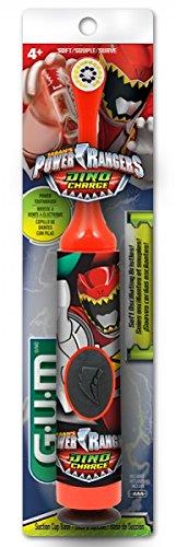 (Sunstar 4080R GUM Power Rangers Power Toothbrush, Oscillating Bristle)