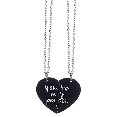 love product grande half necklace pendant colors heart steel image products you stainless multiple i