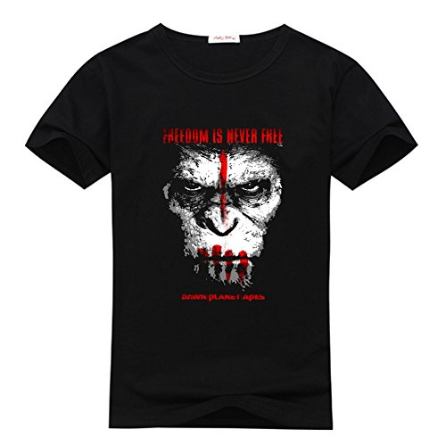 DIYtshirt Dawn of the Planet of the Apes T-Shirt, Custom Men's Classic 100% Cotton T-Shirt with Dawn of the Planet of the Apes