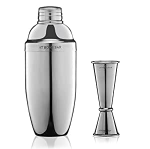 Premium 24oz Cocktail Shaker and Jigger with Measurement Markings – Professional Bar Set to Make Delicious Cocktails