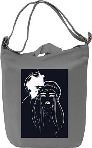 Girl Portrait Borsa Giornaliera Canvas Canvas Day Bag| 100% Premium Cotton Canvas| DTG Printing|