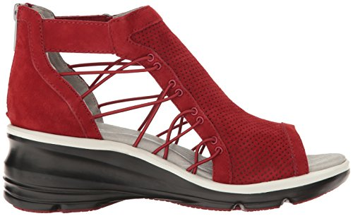 clearance in China shop for sale online Jambu Women's Naomi Wedge Sandal Red DO1c5xp
