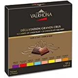 Valrhona 32 French Gourmet Chocolate Squares 6 Dark chocolates & 2 Milk Chocolates assortment, Gift box