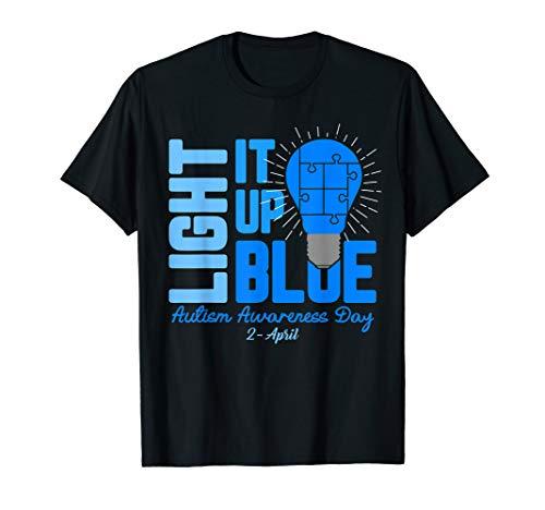 Light It Up Blue Autism Awareness T Shirt Kids Men Women T-Shirt