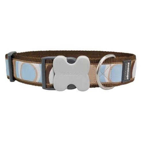 Red Dingo Circadelic Dog Collar, Brown, Giant Short
