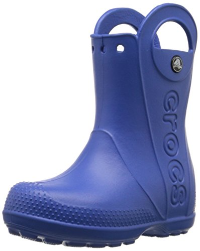 [crocs Kids Handle It Rain Boot (Toddler/Little Kid),Sea Blue,10 M US Toddler] (Boots Shoes For Kids)