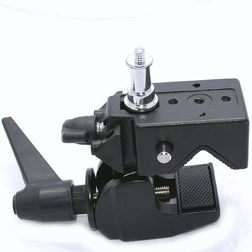 ePhoto Universal 5/8'' stud with 1/4'' 3/8'' thread Light stand Support Studio Super Clamp System by ePhoto INC SC Clamp by ePhoto