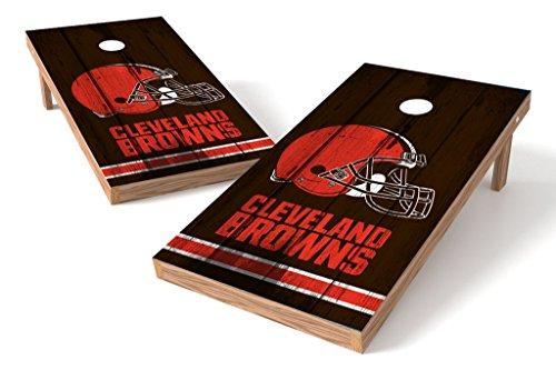 PROLINE NFL Cleveland Browns 2'x4' Cornhole Board Set - Vintage ()